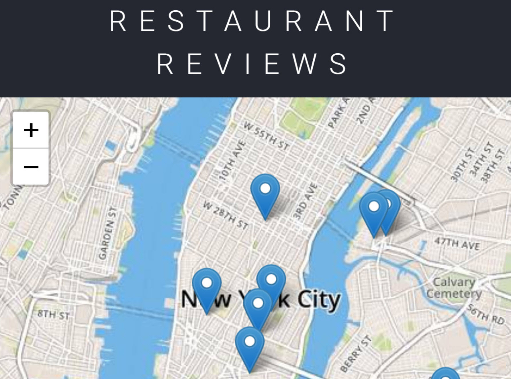 Restaurant Reviews App – Stage 1 – Kathleen West